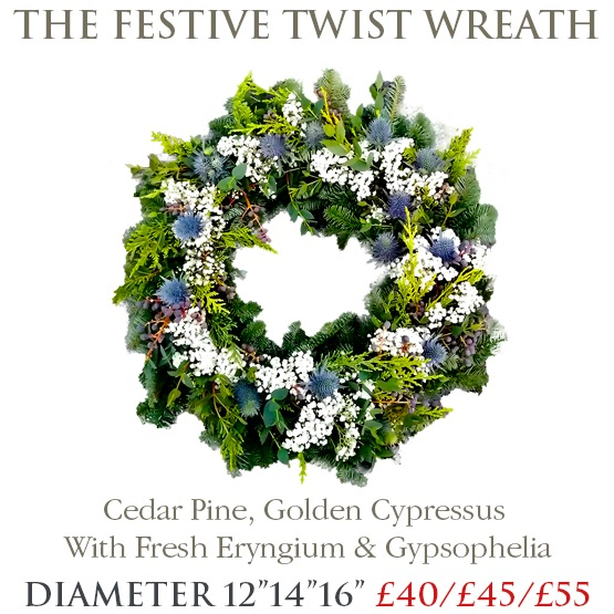 Festive Twist Wreath - SMALL
