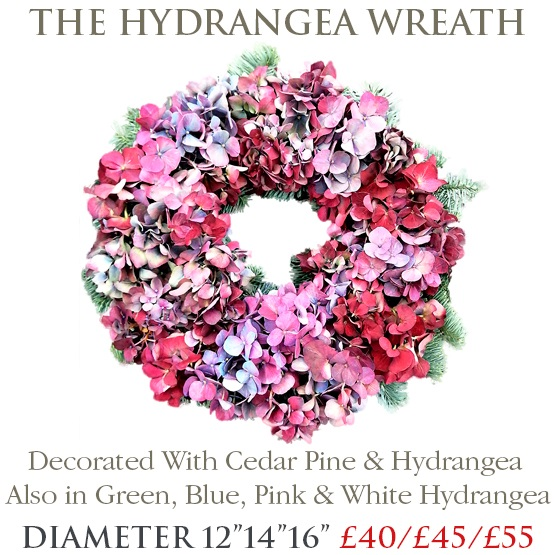 Hydrangea Wreath - SMALL